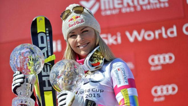 Lindsey Vonn, con dos Globos de Cristal