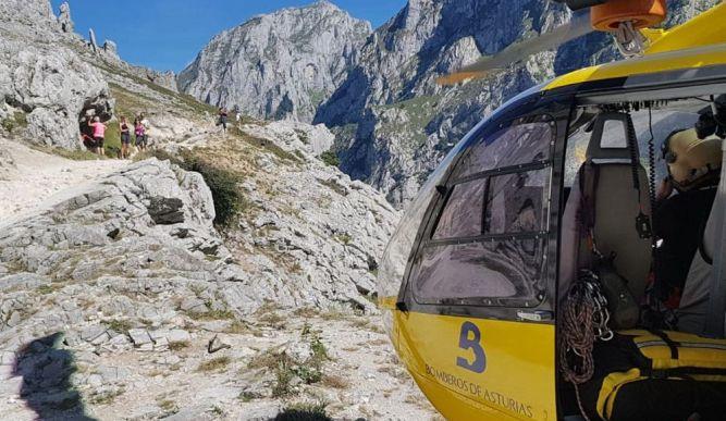 El helicóptero del Servicio de Emergencias