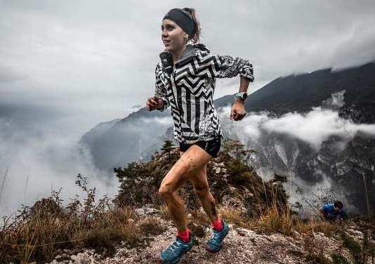 Sheila Avilés durante la carrera