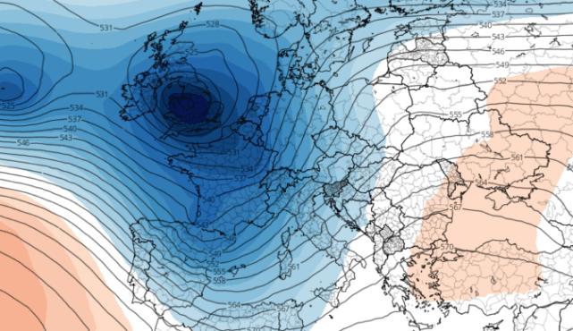 Los frentes atlánticos, protagonsitas los próximos días en la Península