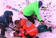 Zyla, tendido en el suelo mientras fue antendido por los médicos