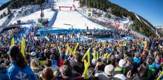 El rotundo éxito de las final de la Copa del Mundo de alpino en marzo en Soldeu, un trampolín para las estaciones andorranas. FOTO: Grandvalira