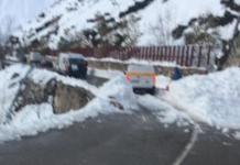 Imagen de la carretera del puerto de San Isidro