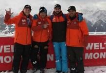 Eguibar en Montafon con miembros del equipo de la RFEDI.