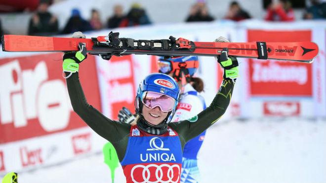 Tras la decepción de Courchevel, Mikaela Shiffrin ha vuelto a lo grande en Lienz obteniendo dos victorias consecutivas. FOTO: Marca/AFP