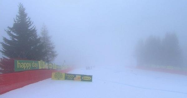 La niebla ha imposibilitado concluir el super G.