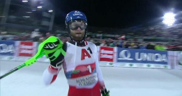 Marco Schwarz, impecable en la primera bajada. De la segunda se acordará toda su vida.