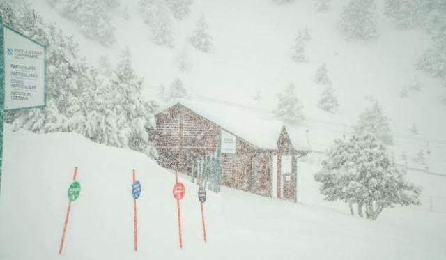 Así nevaba este miércoles en la estación andorrana