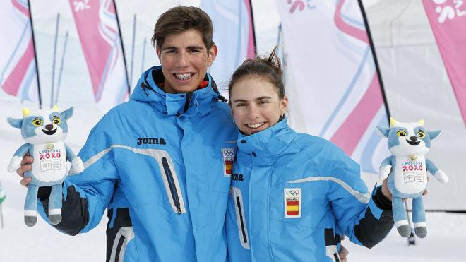 Ambos han hehco podio en el sprint de esquí de travesía