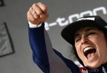 Quinta victoria de la temporada para Federica Brignone, que le permite hacerse con el liderato de la Copa del Mundo. FOTO: Marca/AFP