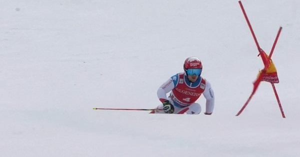 Loic Meillard ha logrado su primer podio y ha aguantado muy bien la presión en la segunda manga.