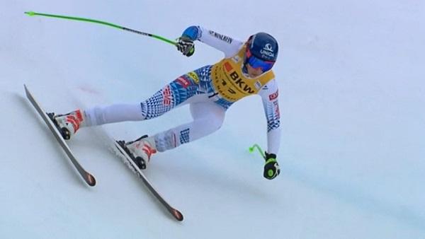 Petra Vlhova no ha acabado la carrera, lo que podría lamentar a final de temporada.