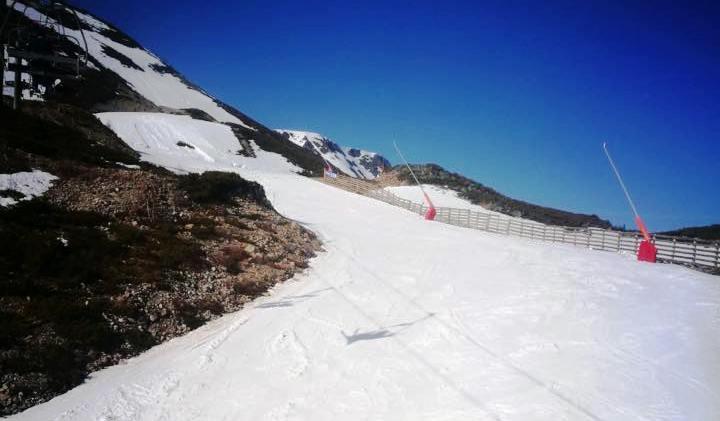 La escasez de nieve ha obligadoa cerrar temporalmente