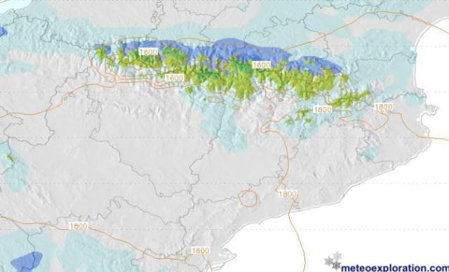 la cota de nieve podrá bajar hasta los 1.600 m