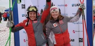Magdalena Egger y Lisa Grill están arrasando en el Mundial junior de Narvik. FOTO: OESV