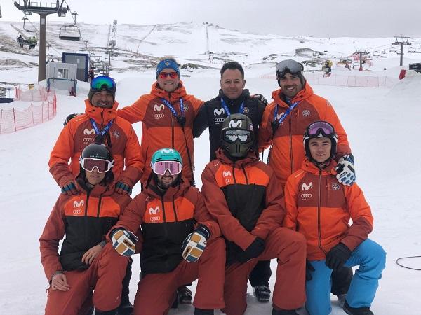 El equipo español que disputará la penúltima prueba de la Copa del Mundo esta semana en Sierra Nevada. FOTO: RFEDI