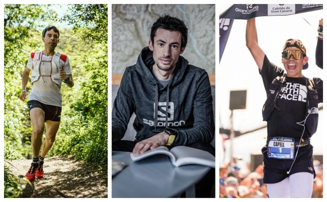 #YoCorroEnCasa con Tofol Castanyer, Kilian Jornet y Pau Capell. FOTOS: Jordi Sarragosa /Matti Bernitz (Marca.com)