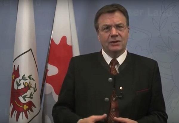 Guenther Platter, gobernador de Tirol.