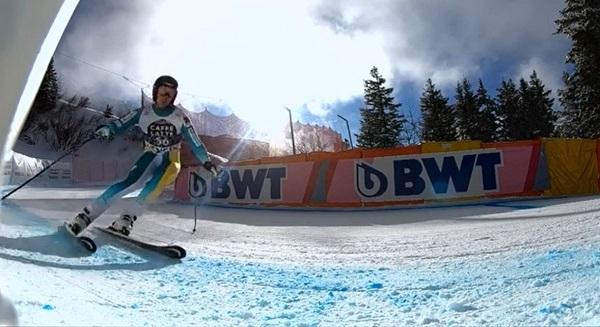 Adur Etxezarreta, uno de los cuatro componentes del equipo A de alpino.