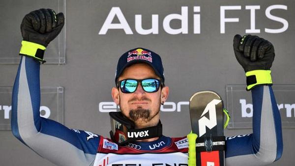 Paris, tras ganar el segundo descenso de Bormio después de ganar el primero la víspera esta pasada temporada. FOTO: Marca/AFP