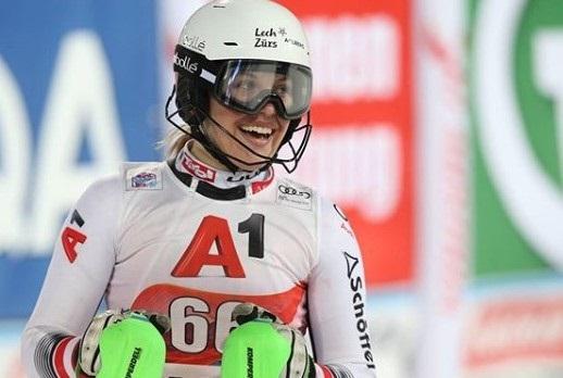 Egger debutó en la Copa del Mundo el pasado enero en el slalom de Flachau. FOTO: Instagram M.E.