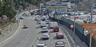 Colas en Andorra sentido sur para cruzar la frontera