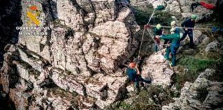El montañero se enconraba en una zona muy abrupta