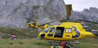 Lugar del rescate en Picos de Europa