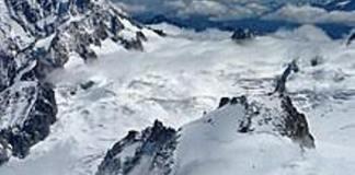 Una imagen del glaciar Géant, en el Mont Blanc