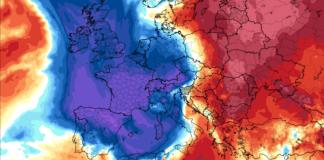 La bolsa fría ártica comienza a entrar en las islas británicas