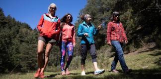 Las cuatro montañeras en La Molina