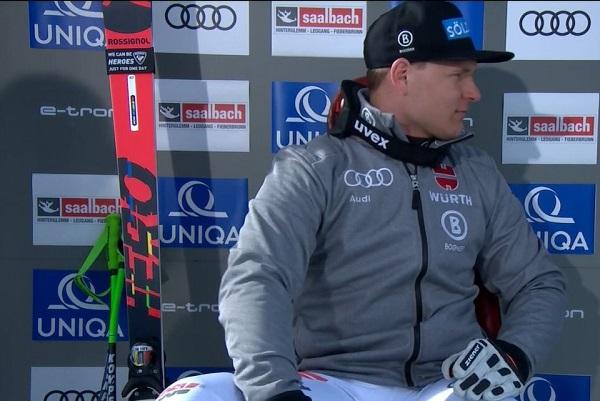 Thomas Dressen, vencedor del último descenso disputado en Saalbach el pasado febrero.