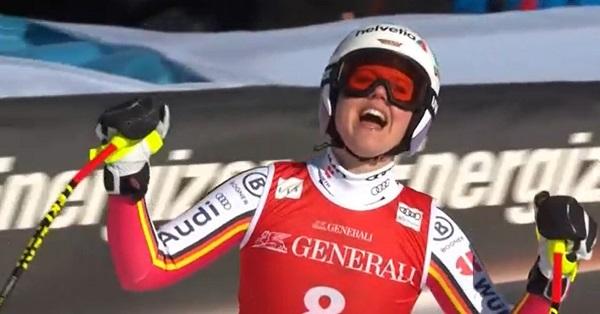 Rebensburg fue la vencedora del último descenso en Garmisch. Lo hizo ante su afición, siendo su primera victoria en esta disciplina y la última xde su carrera deportiva.