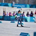 Martí Vigo, compitiendo en los 15 km libre de los Juegos de PyeongChang. FOTO: RFEDI