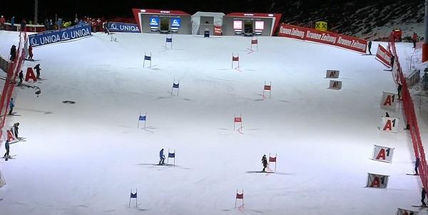 Aspecto de la pista de Lech Zürs donde Vlhova ha conseguido su tercera victoria de la temporada.