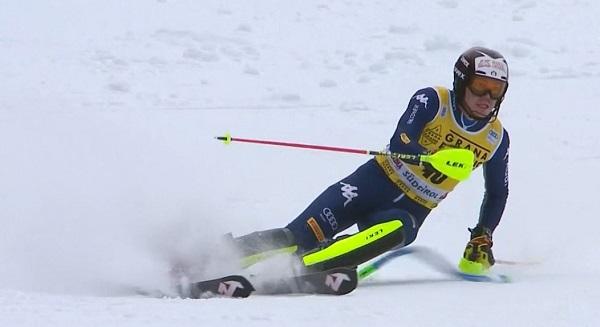 Alex Vinatzer ha sido el más rápido en la primera manga y ha tenido la victoria en la mano. Pero al final ha quedado fuera del podio.
