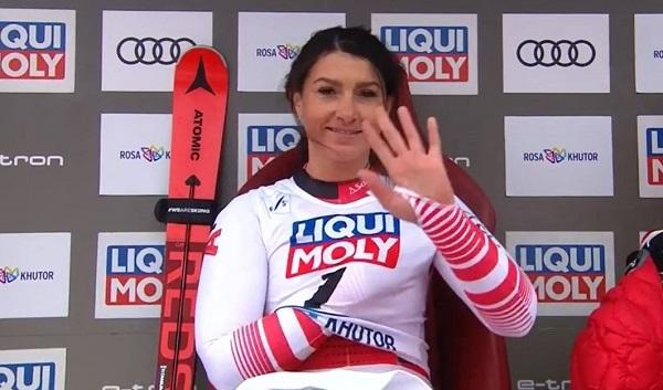 Stephanie Venier lo ha pasado mal en noviembre y espera poder estar este fin de semana en St. Moritz.