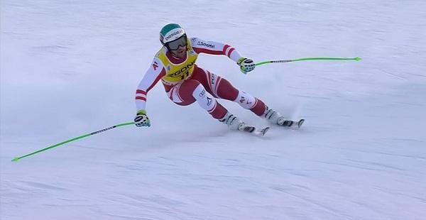 Vincent Kriechmayr ha repetido clasificación en el descenso tras finalizar ayer segundo en el super G.