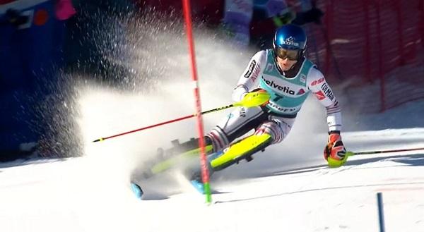 Segundo slalom consecutivo en el que Noël es el mejor en la primera bajada y no acaba en el 'top 5'.
