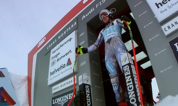 Ester Ledecka ha ido al límite desde el portillón de salida y no ha acabado la carrera.
