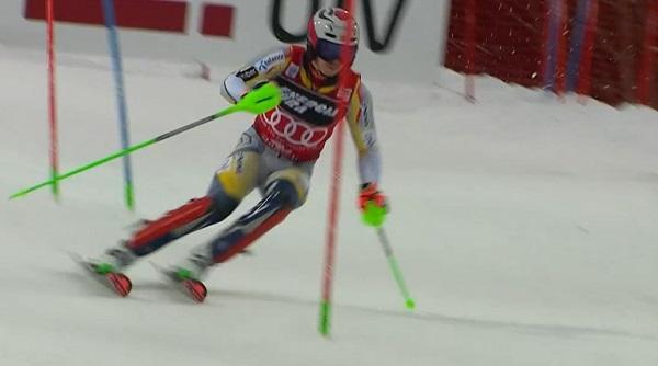 Kristoffersen no ha estado a gusto en ninguna de las dos mangas y ha cedido a Feller el liderato del slalom.