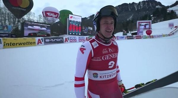 Tres podios consecutivos para Matthias Mayer en Kitzbuehel.