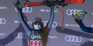 Sexta victoria de Sofia Goggia en la Copa del Mundo, segunda de esta temporada, en el descenso de St. Anton.