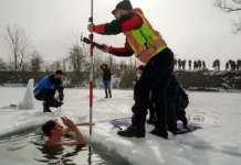 El récord Guiness antes de salir del agua