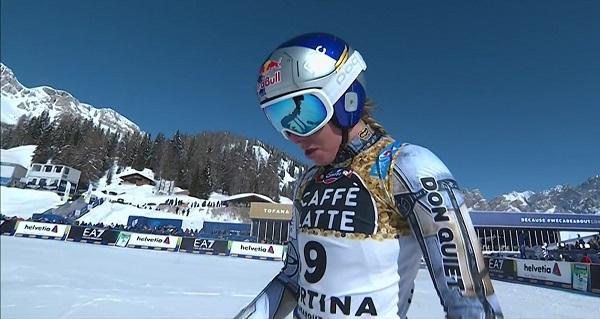 Otra decepción para Ester Ledecka, que ha repetido el cuarto puesto del super G del jueves.