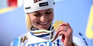 Lara Gut, campeona del mundo de gigante. Ha participado en tyres pruebas y se ha colgado dos oros y un bronce. FOTO: @cortina2021