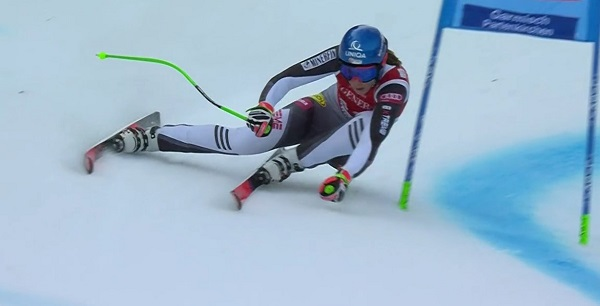 Con la segunda plaza de hoy Petra Vlhova ha logrado su mejor resultado en un super G.