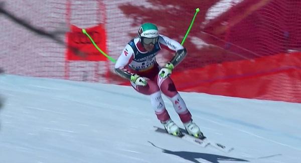 Kriechmayr ha sido tercero en el super G pero las ha visto cuadradas en el descenso y se ha salido. Para casa con nada menos que dos oros.