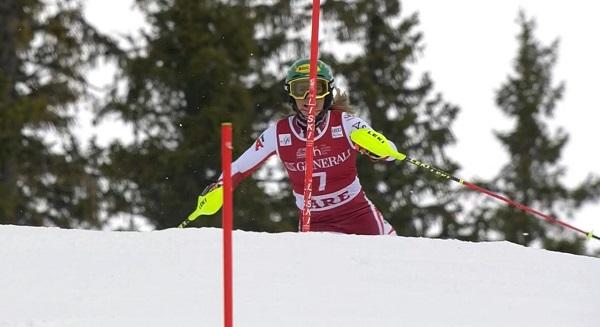 Liensberger ha sido la segunda más rápida en las dos mangas y ello le ha valido su primera victoria en la Copa del Mundo.