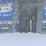 Sólo han podido salir nueve corredores y el primer descenso de Saalbach ha sido cancelado.